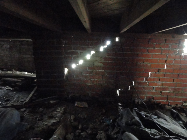 A view from inside the crawlspace in Jackson.  Structural nightmare.